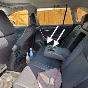 Backseat and door