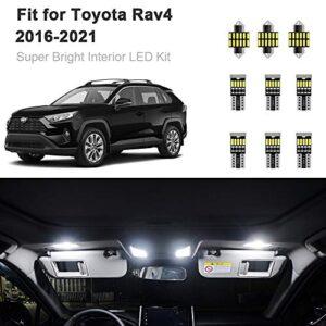 10pcs-RAV4-Interior-LED-Lights-Kit-Super-Bright-LED-Map-Dome-Light-Bulbs-for-2016-2020-Toyota-RAV4-all-models-0
