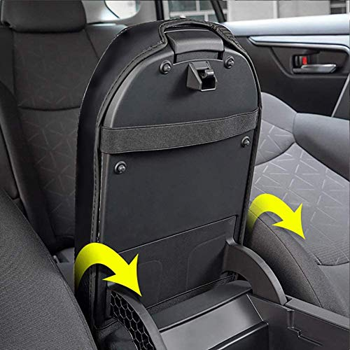 Car-Center-Console-Lid-Armrest-Cover-Protector-Real-Carbon-Fiber-Leather-Cover-Fit-for-Toyot-a-Rav4-2019-2020-XA50-Center-Console-Armrest-Box-Scratch-Resistance-Armrest-Cover-with-Carbon-0-2