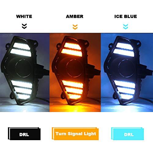 Daytime-Running-Light-For-Toyota-RAV4-2019-2020-Fog-Lights-Kit-Replacement-Amber-Turn-Signal-Lamps-3-Colors-DRL-LED-Daylight-with-Bezel-0-3